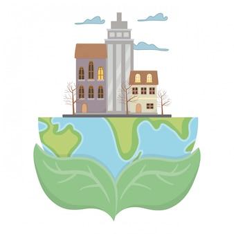 Eco ciudad y salvar planeta.