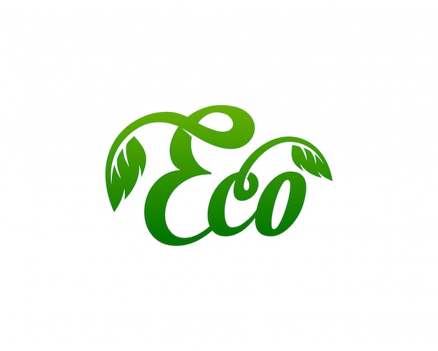 Eco logo plantilla vector illustration
