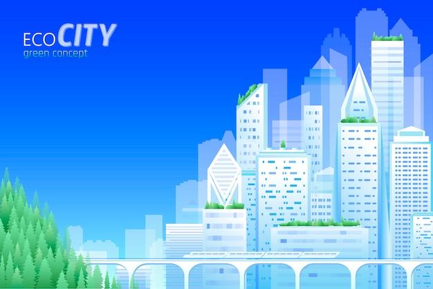 Ecología amigable ciudad.