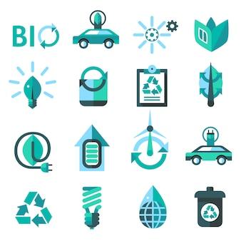 Ecología y reciclaje de iconos