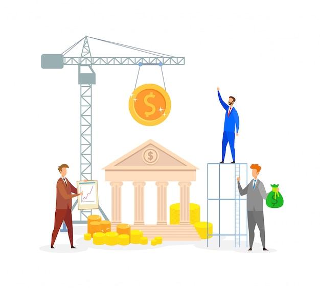 Economía desarrollo metáfora ilustración vectorial