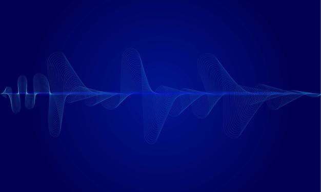 Ecualizador digital azul abstracto, fondo de onda de sonido