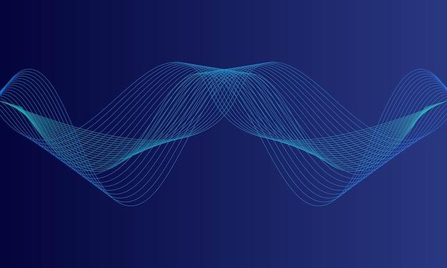 Ecualizador digital azul abstracto, vector de onda de sonido