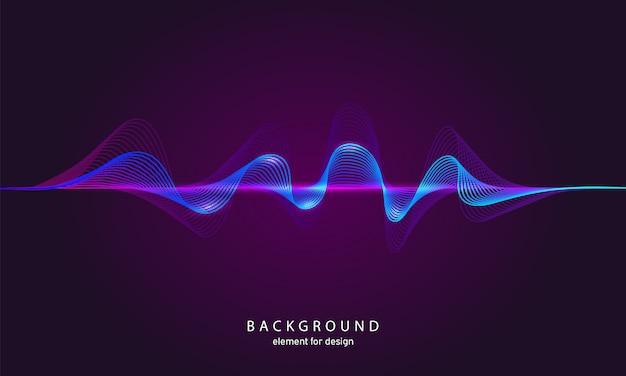 Ecualizador de música de fondo abstracto.