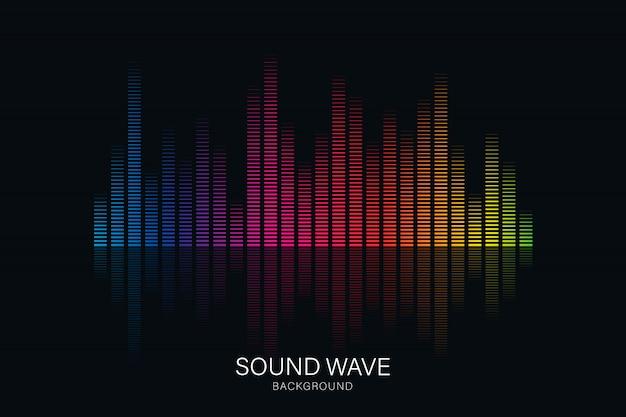 Ecualizador de ondas de sonido adecuado para póster.
