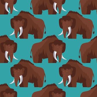 Edad de piedra mamut de patrones sin fisuras