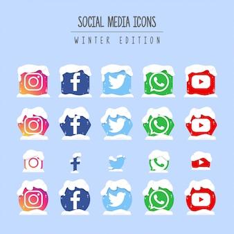 Edición de invierno de redes sociales