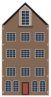 Edificio alto marrón con ventanas