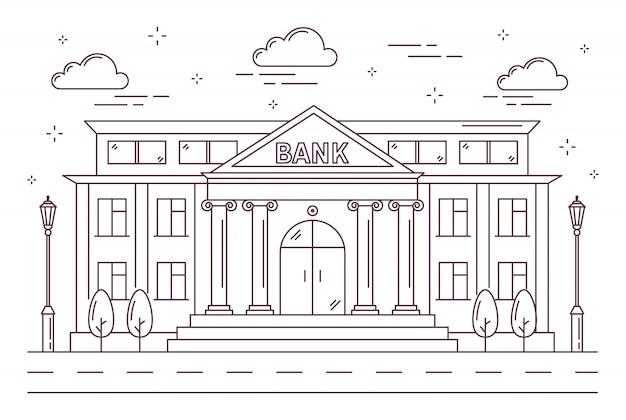 Edificio de banco de línea.