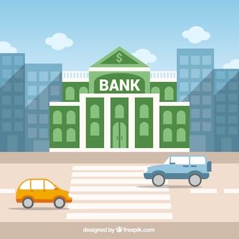 Edificio del banco verde