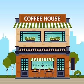 Edificio de la casa de café