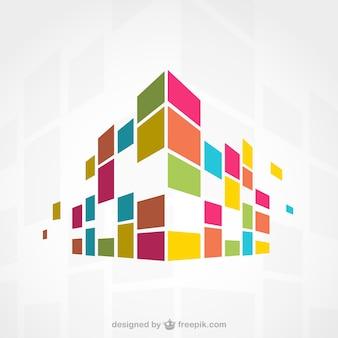 Edificio colorido abstracto