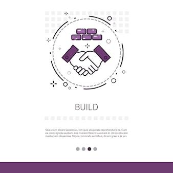 Edificio construcción ingeniería web banner