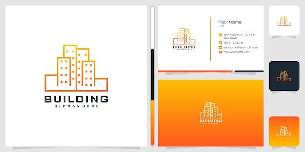 Edificio diseño de logotipo y tarjeta de visita.