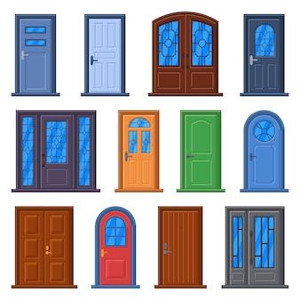 Edificio exterior e interior ilustración