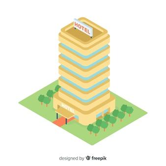 Edificio de hotel isométrico