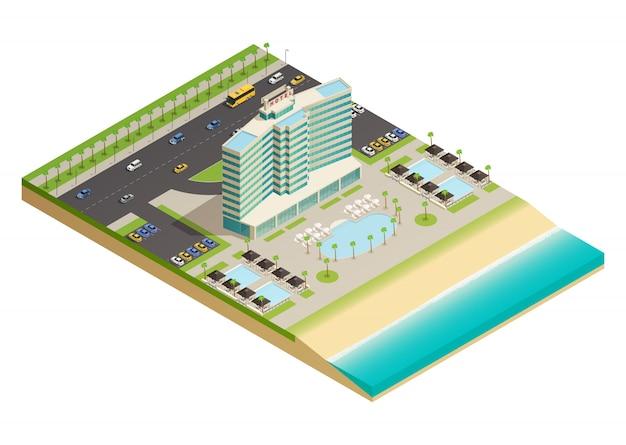 Edificio de hotel de lujo