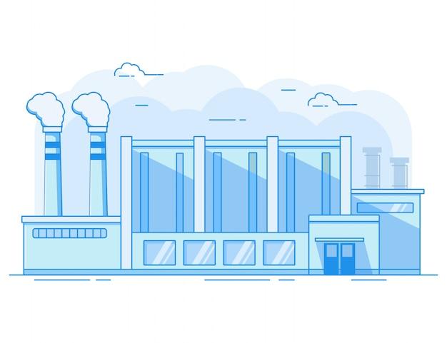 Edificio industrial de fábrica.