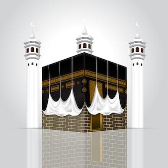 Edificio islámico kaabah realista