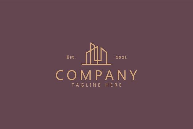 Edificio landmark business company logo concepto
