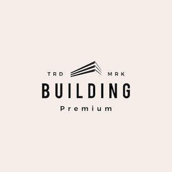 Edificio logo vintage hipster
