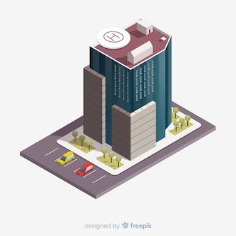 Edificio de oficina isométrico
