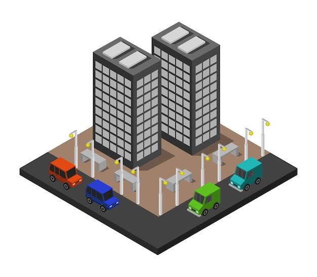 Edificio de oficinas isométrico