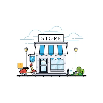 Edificio de la tienda en línea