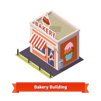 Edificio de la tienda de panadería