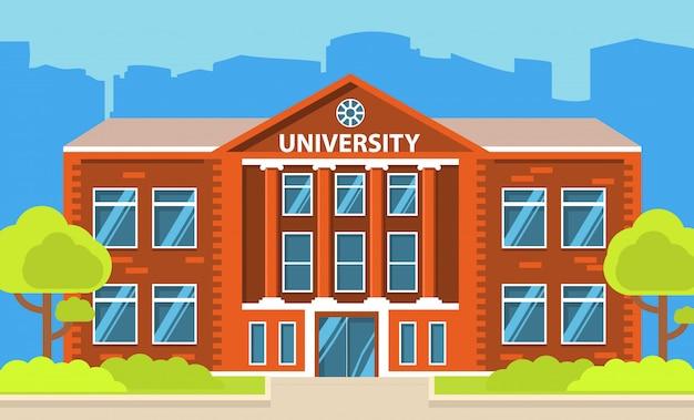 Edificio de la universidad de la ciudad.