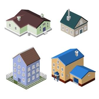 Edificios de casas residenciales