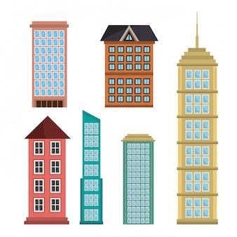 Edificios de diseño urbano.