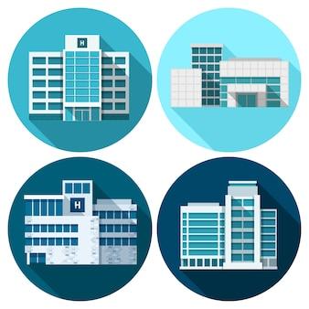 Edificios de hospitales planos