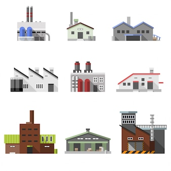 Edificios industriales planos