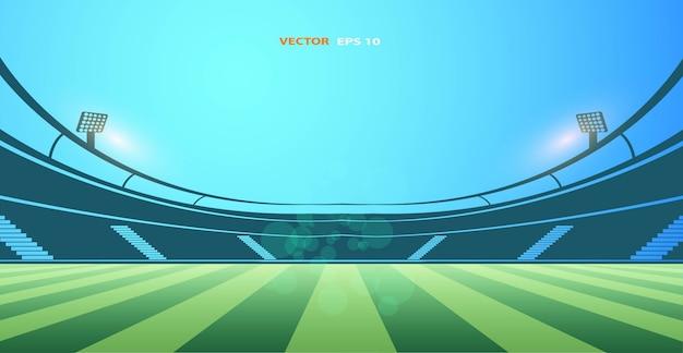 Edificios públicos. estadio de fútbol. ilustración vectorial estadio