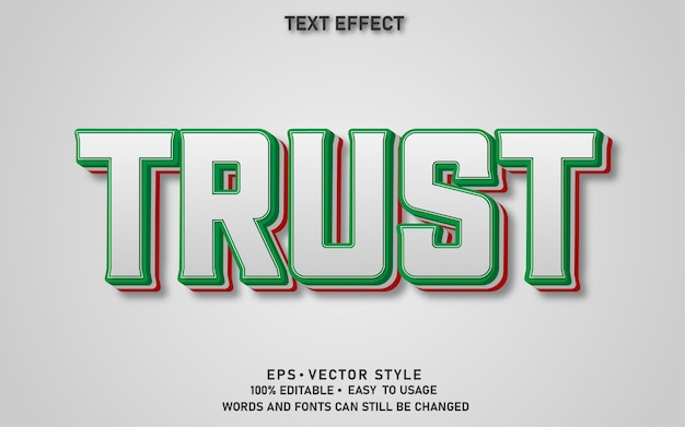 Editable text effect trust
