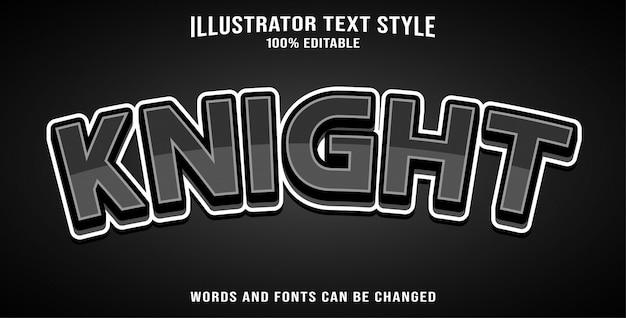 Editable texto estilo efecto caballero