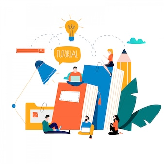 Educación, cursos de capacitación en línea, tutoriales y libros en línea