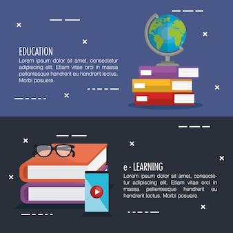 Educación electrónica con teléfono inteligente