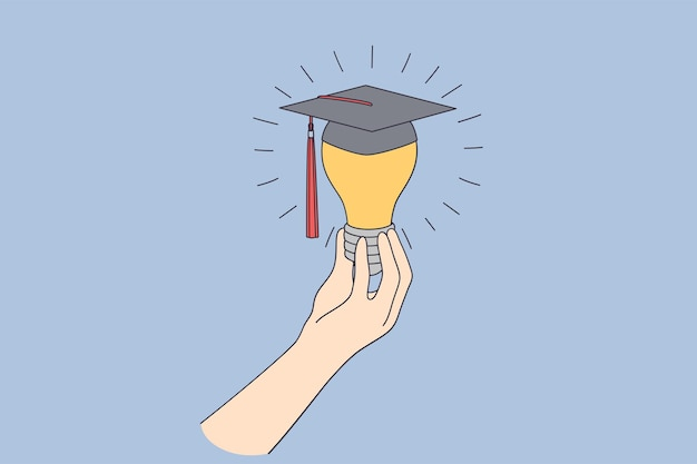 Educación empresarial aprendiendo el concepto de nuevas ideas