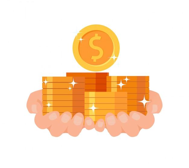 Educación financiera, préstamo, ilustración de efectivo rápido