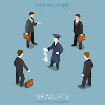 Educación graduación futura carrera profesional de negocios headhunting