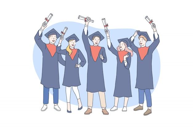 Educación, graduación, premiación