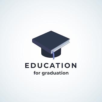 Educación para el icono de graduación absrtract