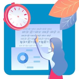 Educación, ilustración de investigación científica