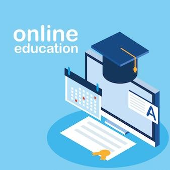 Educación en línea con escritorio