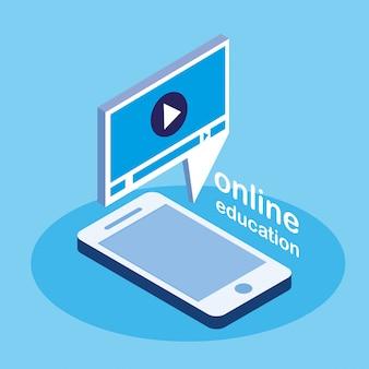 Educación en línea con teléfono inteligente