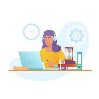 Educación en línea vector concepto de diseño.
