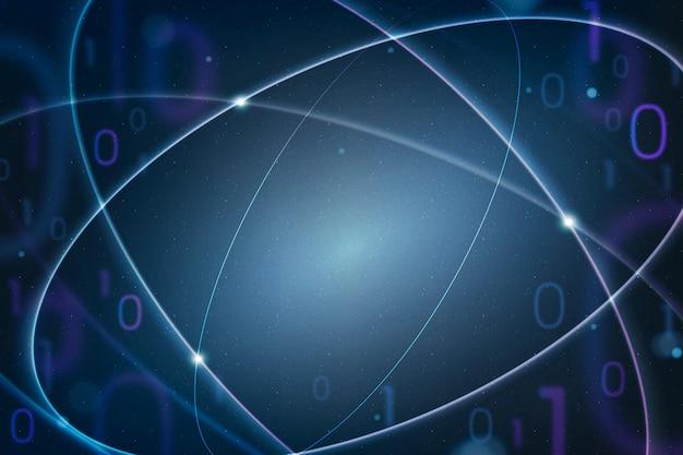 Educación matemática fondo azul vector educación disruptiva digital remix