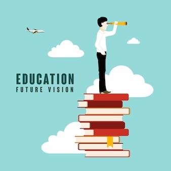 Educación visión de futuro con estilo